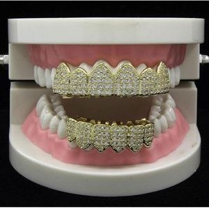 Harlembling Accessories - Harlembling Solid Silver Grillz Teeth Top Bottom
